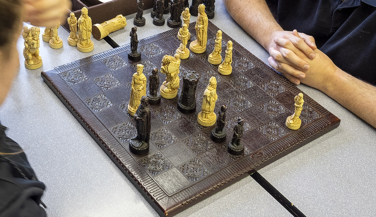 Lunchtime chess match